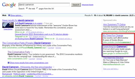 Party leader's PPC strategy UK election 2010