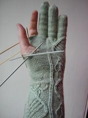 Halfway glove