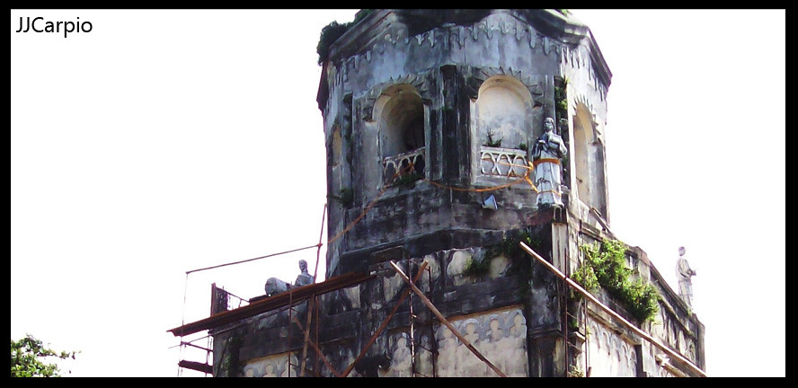 Bulakan Church Tower under repair