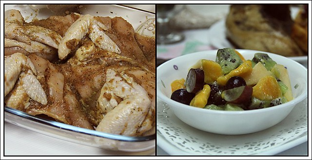 Fruit Salad & Kenny Rogers Chicken