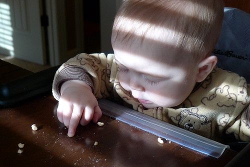 Jack's first Cheerios