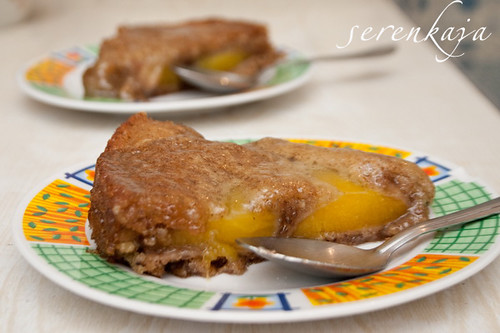 Бисквитно-ореховый пирог с манго