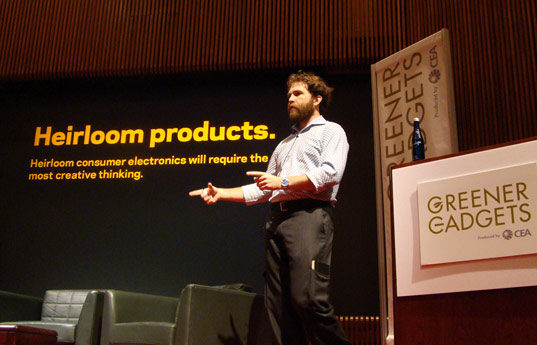 Saul Griffith: Design Heirloom Products, greener gadgets 2009, sustainable design, green consumer electronics, greener gadgets design competition, green technology conference, clean technology