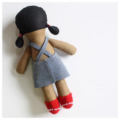 Little People Doll – Girl (Hasenpfeffer Incorporated) Tags: wool girl kids children toy toys doll dolls recycled handmade felt plush jeans fabric denim etsy knitted recycling softy hasenpfeffer dollclothes knittedjacket hasenpfefferincorporated