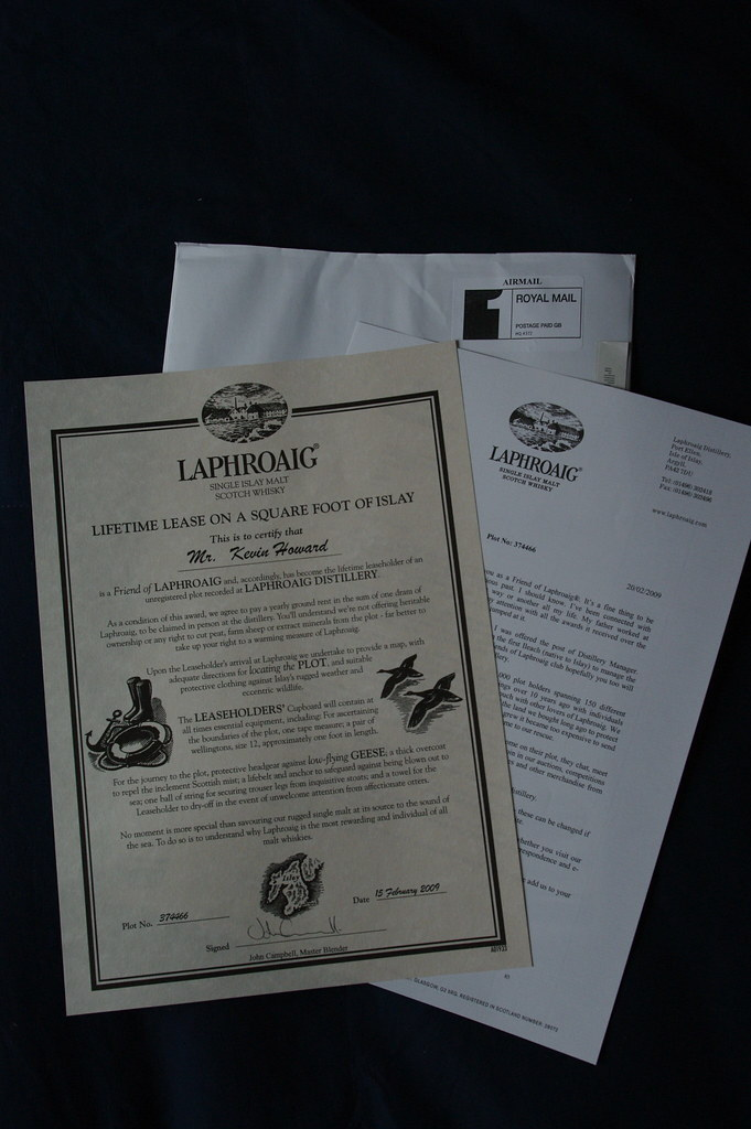 Laphroaig lifetime lease