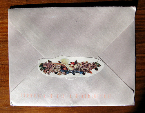 back of pearly envelope