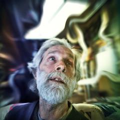 Gilles Roux ( INTERLUDE EXPRIMENTAL) (Benoit.P) Tags: old trip portrait man art photoshop fun funny montral benoit mtl bad drugs drug 5d troisrivieres psychedelic mauricie tr vieux homme paille troisrivires drogue bohek 24mmf18 benoitp benoitpaille