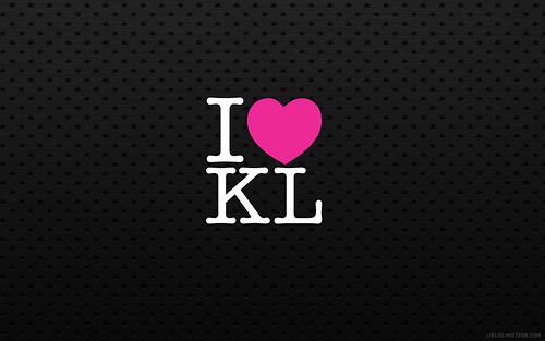 free wallpaper vector. I Love KL : Free wallpaper for