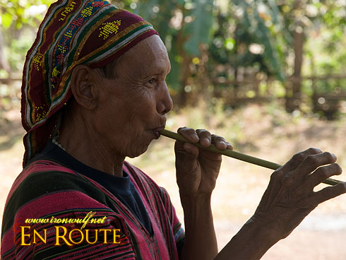 Laven Ethnic Tribe Flute Player