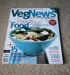 It's About Time! (Vegan Butterfly) Tags: food magazine book vegan yummy healthy raw eating chocolate cancer tasty bowl literature pasta delicious dimsum health asparagus vegetarian recipes articles issue alootikki vegnews watercrisis kriscarr