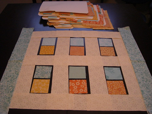 Quilt Along Fabrics cut out