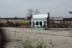 People who live in glass houses. (Green-Ghost) Tags: usa house art mirror louisiana neworleans scrapyard scrap julyabc