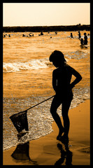 golden mermaid (adudi) Tags: sea sky people italy fish water silhouette golden fishing nikon italia mare waves spuma mermaid acqua venezia pesca sirena oro onde jesolo schiuma eraclea pescare d40 dorata goldcollection