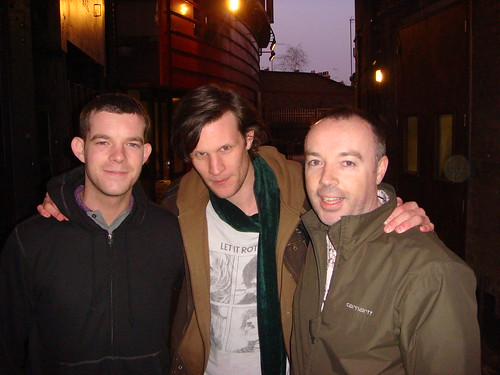 With Matt Smith and Russell Tovey