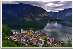Helluva View Over Hallstatt (Nathan Bergeron Photography) Tags: mountains church water architecture geotagged austria miniature europe artist view rooftops spire getty viewpoint picks easterneurope oldworld centraleurope tiltshift salzkammergut hallstatt upperaustria christuskirche austrianalps emeraldwater churchofourlord 18122009 dachsteinsalzkammergut nordichomes geo:lat=47559195 geo:lon=13644161