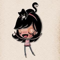 Un abrazo ASI DE GRANDE (Anita Mejia) Tags: illustration sketch marcadores markers ilustracion boceto anitamejia