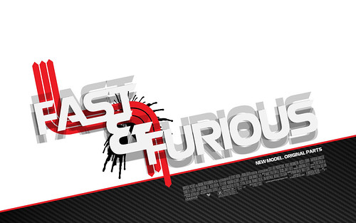 Fast & Furious Movie Poster Typography Redesign