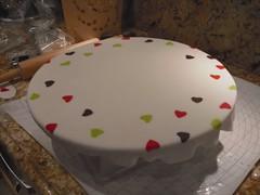 Surprise gift box (video) (Bella'scake) Tags: blue white tree green animals cake plane silver airplane peach babyshower fondant