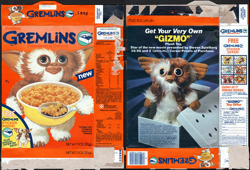 Ralston - Gremlins cereal box - Free Sticker inside - 1984