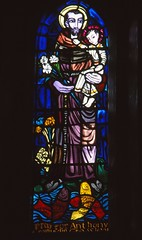St Anthony (Aidan McRae Thomson) Tags: irish window shropshire stainedglass whitchurch patrickpollen