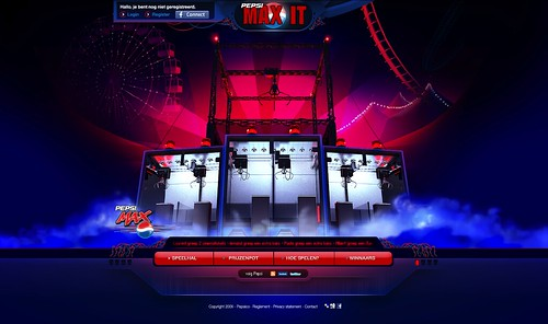 Pepsi Max It - design: finished UI