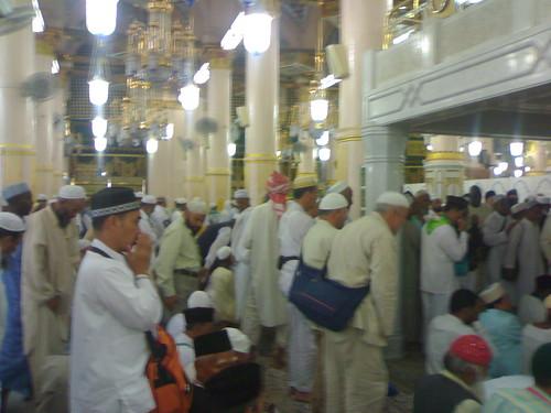 Raudhah Masjid Nabawi by imzaluzzulazmi.