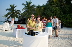 Beach cocktail party