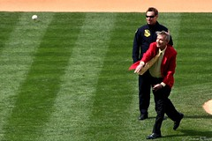 Harry Kalas Throws Out the First Pitch (Harpo42) Tags: philadelphia baseball pitch phillies guest athlete mound throw mlb nationalleague majorleague harrykalas harrythek april82009