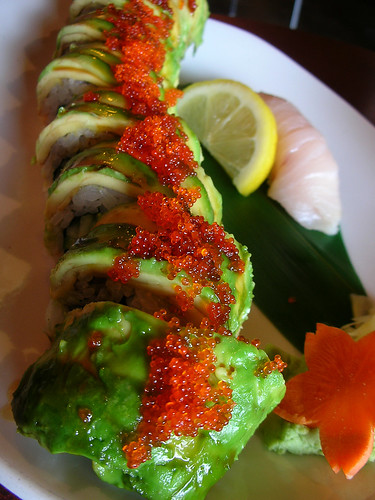 Kristen's lunch: caterpillar roll