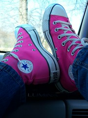 My Loves (BREananicOLE) Tags: shoes converse hightops kicks allstar chucks chucktaylors allstars strictlypinkconverse