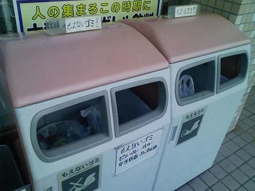 小千谷のコンビニのゴミ箱