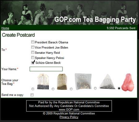 GOP Tea Bagging