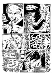 A Dog Was Smoking a Coffee and Drinking a Cigarette (Gaspard Pitiot) Tags: comics comix cuddle devil