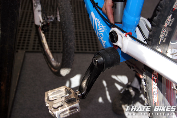 Some custom tube action on the Trek Slope style bikes