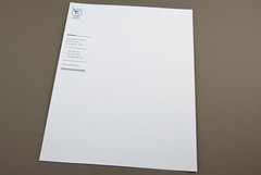 Contemporary Stationery Letterhead (inkdphotos) Tags: blue shop retail modern writing paper office store contemporary card boutique envelope letter product greetingcard stationery printed correspondence letterhead