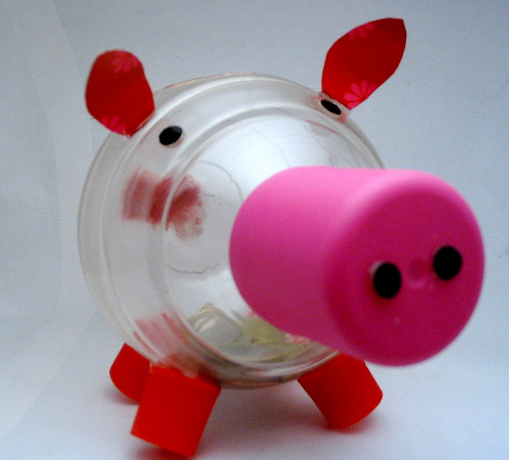A piggy bank made as a christening gift