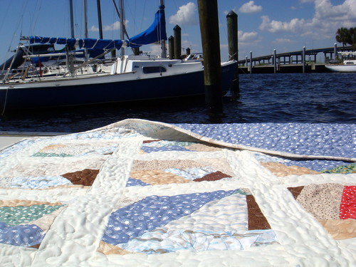sailboat quilt detail