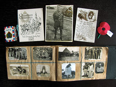 April 25th - ANZAC Day #2 - Uncle Tom (1917-1947) (Reflective Kiwi %-)) Tags: christmas newzealand frank army photo war day sister brother album postcard diary pat egypt cairo card nz joyce ww2 nana remembrance veteran anzac mymum uncletom 19391945 exerts april252009