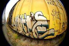 """Peace to Whistle Blower"" (TRUE 2 DEATH) Tags: california street railroad streetart art train graffiti tag graf sigma trains fisheye railcar spraypaint boxcar ok 8mm railways railfan freight fisheyelens freighttrain whistleblower sigmalens 8mmfisheye benching sigma8mmfisheye freighttraingraffiti sworne peacetowhistleblower"