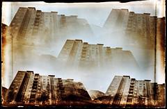 Block of flats (batuda) Tags: cityscape pinhole d76 6x9 block cardboardbox kaunas pinholeday wppd kalnieciai pin5hole