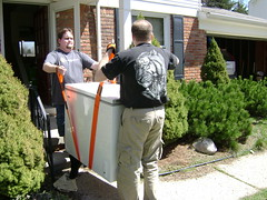 Moving the giant freezer