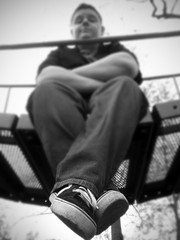 Jake 2009 (ALM Portraits) Tags: boy blackandwhite abstract macro senior photo shoes graduation picture posed vans upclose classof2009 seniorportaits