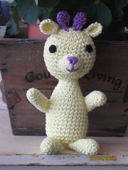 light yellow giraffe (ori2009) Tags: friends pets animal animals japan kids children toy doll handmade crochet craft giraffe amigurumi babydolls