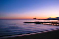 After sunset blur (koalie) Tags: sunset sea beach water sand mediterranean cannes dusk clear estrel techniqueolivierpinna