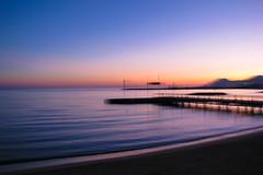 After sunset blur (koalie) Tags: sunset sea beach water sand mediterranean cannes dusk clear estérel techniqueolivierpinna