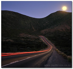 Moon Beams (Panorama Paul) Tags: fullmoon soe novideo cartaillights littlekaroo ladismith nohdr shieldofexcellence nikfilters vertorama nikond300 goldstaraward wwwpaulbruinscoza