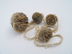 Four Bead Book Paper Necklace by Phiona Richards