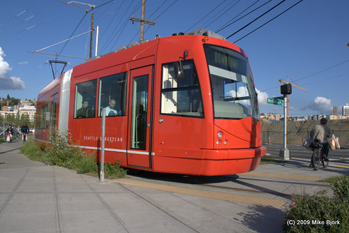 Seattle Streetcar, by Mike Bjork