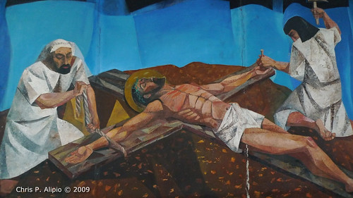 nailing jesus to cross. Jesus is Nailed to the Cross