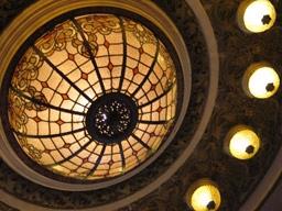 Détail du dôme du rez de chaussée de la confiteria del Molino de Buenos Aires
